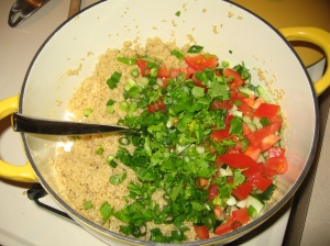 Quinoa in the pot from The Mitsitam Cafe Cookbook